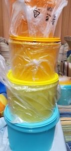 SOLD Tupperware stacking canisters